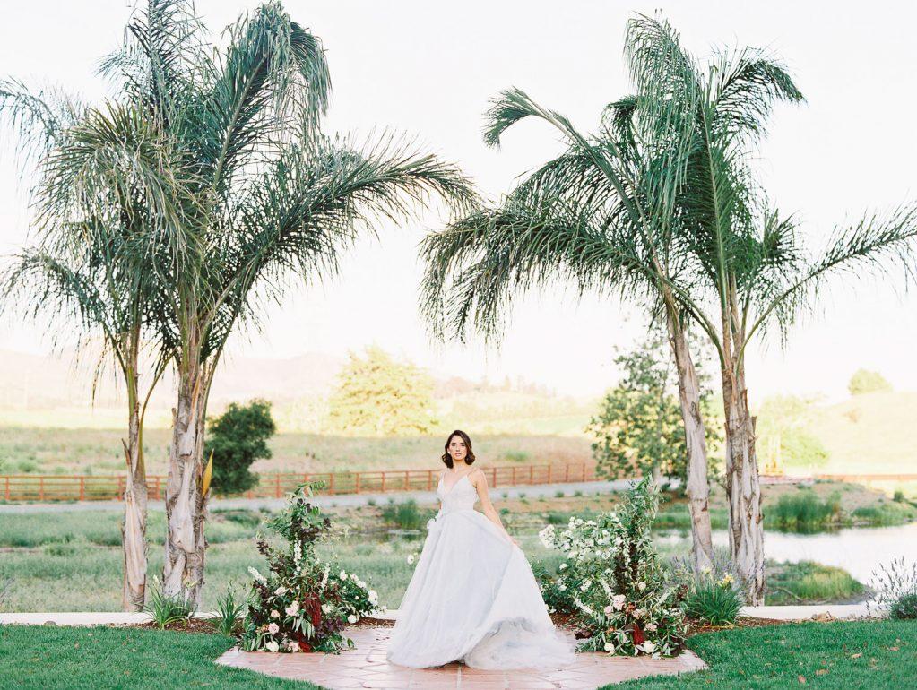 bride at la Lomita ranch wedding venue in San Luis Obispo California