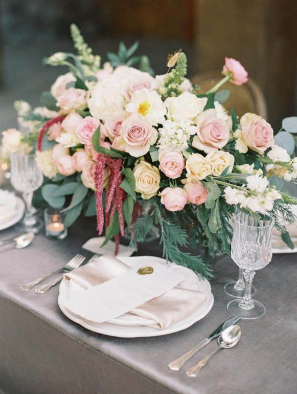 wedding reception decor at villa loriana in san luis obispo