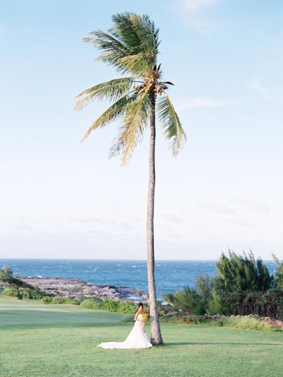 Hawaii wedding photo of bride at the Pineapple Chapel in Lahaina Maui