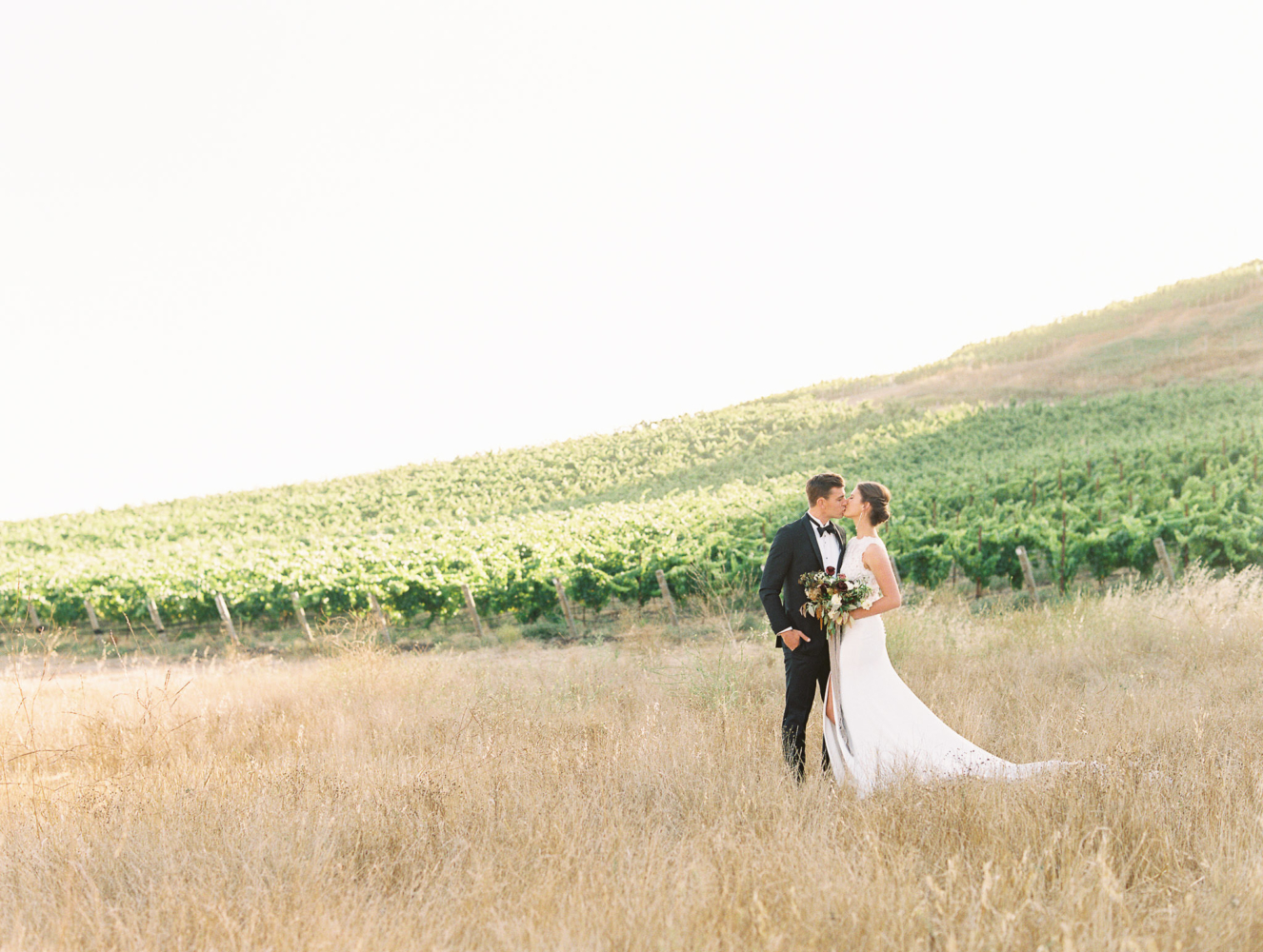 Photo of bride and groom at La Lomita Ranch San Luis Obispo Wedding Venue California