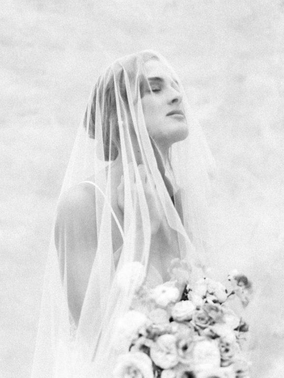 bride with veil at San Luis Obispo Wedding