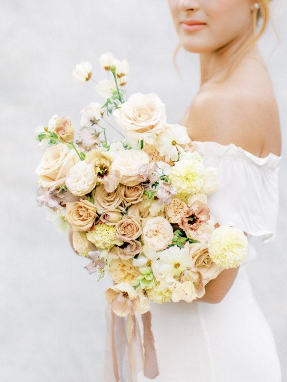 San Luis Obispo Bridal Editorial Photo with Embark Event Design